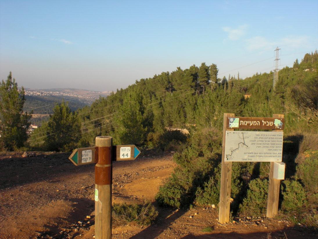 Wanderwege in den Bergen von Jerusalem