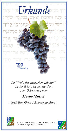 Urkunde Sieben Arten - Wein